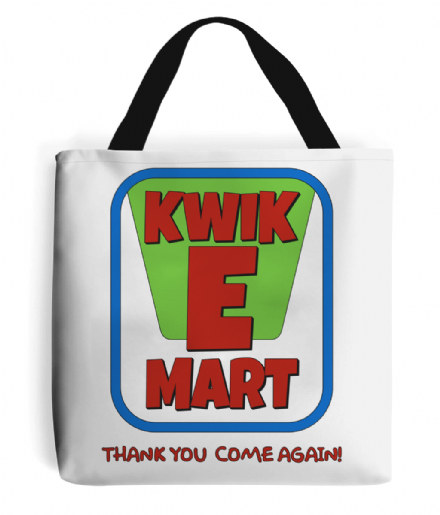 Kwik E Mart Convenience Store White Tote Bag Design Inspired by The Simpsons